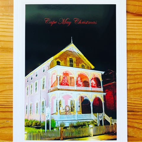 Pink House Christmas Card