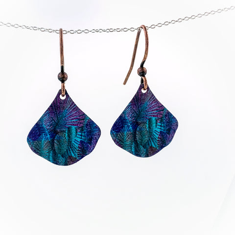 Purple Coral Earrings