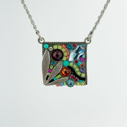SQUARE LEAF MULTICOLOR PENDANT