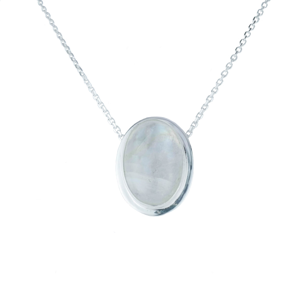 Oval Moonstone Necklace
