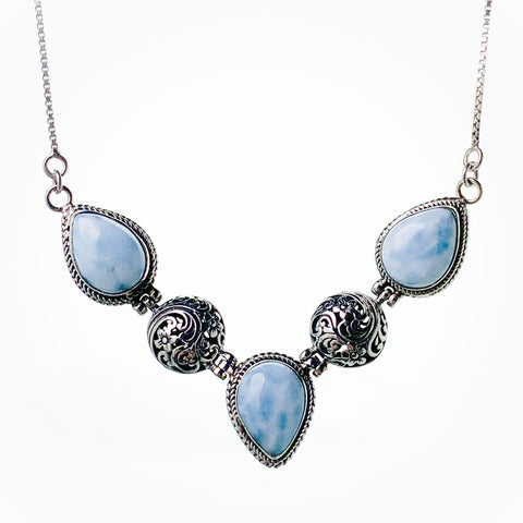 Larimar Filigree Necklace