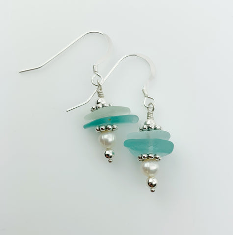 SS STACKED SEAGLASS DROPS