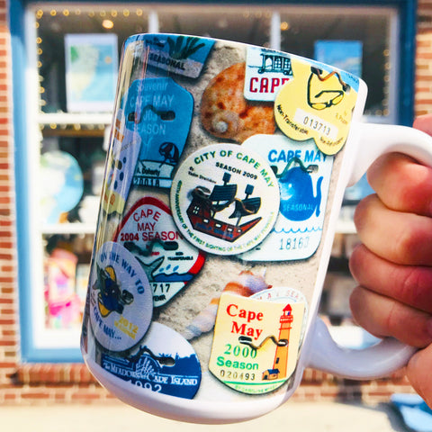 Cape May Beach Tag Mug