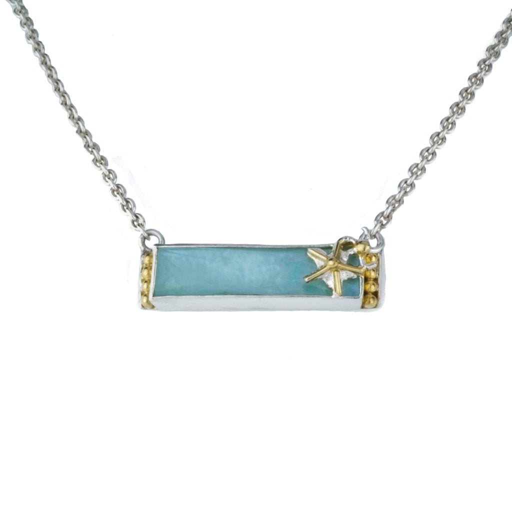 Michou Amazonite Bar Necklace