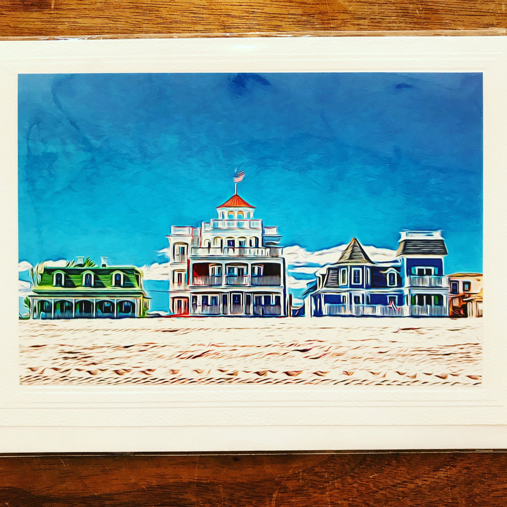 Iconic Cape May Houses Card