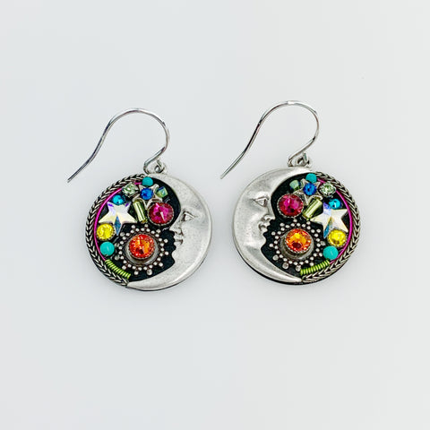 MIDNIGHT MOON EARRING - M/C