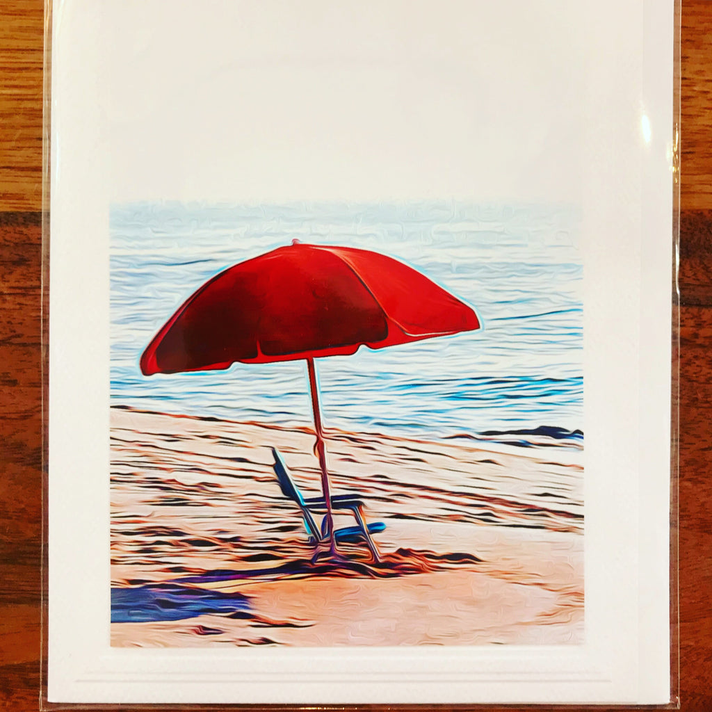 Beach Chair and Umbrella Card