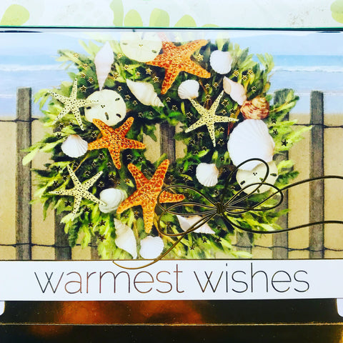 Shell Wreath Boxed Christmas Cards