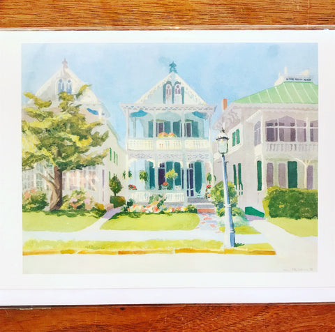 Victorian Houses Greeting Card
