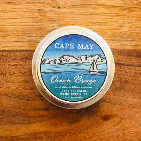 Ocean Breeze 4oz Travel Candle