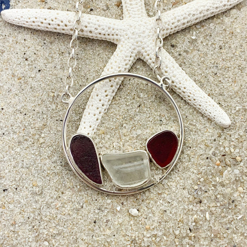 Jessica Lee Sea glass Necklace