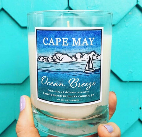 Cape May Ocean Breeze Soy Candle 10oz.