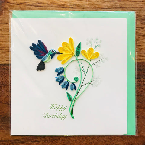 Hummingbird Birthday Card