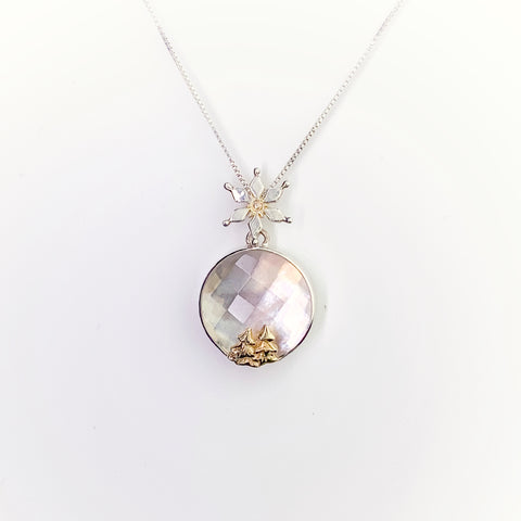 Michou- Christmas Tree Quartz over Mother or Pearl