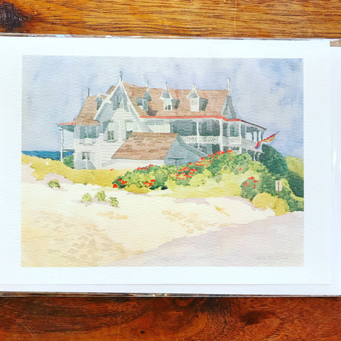 House By the Sea Greeting Card