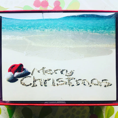Merry Beach Scene Boxed Christmas Cards