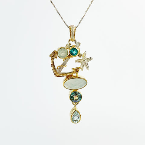 ANCHOR PENDANT CHAL/BL TOP