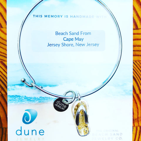 Cape May Sand Flipflop Bangle
