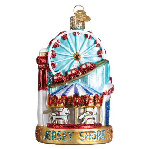 Jersey Shore Glass Ornament