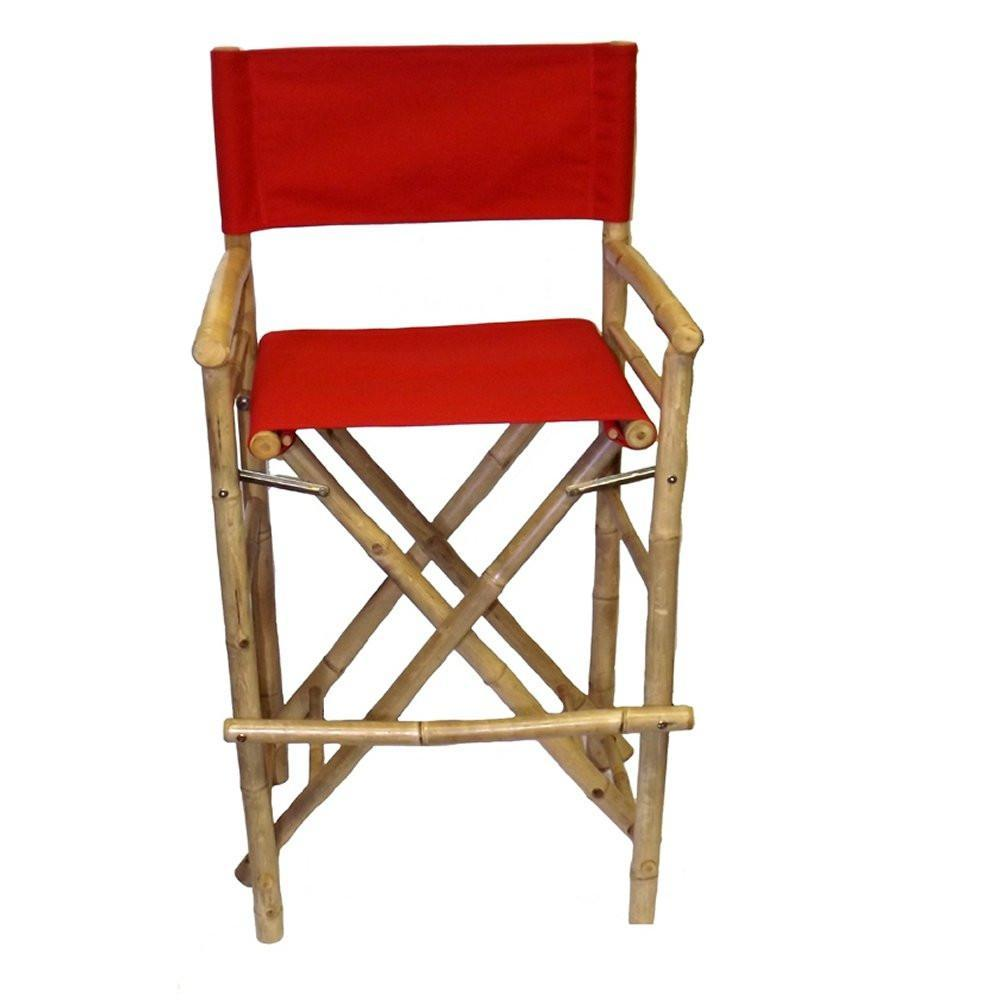 Groovy Bamboo54 Bamboo Folding Canvas Bar Stool With Red Canvas Set Of 2 Camellatalisay Diy Chair Ideas Camellatalisaycom