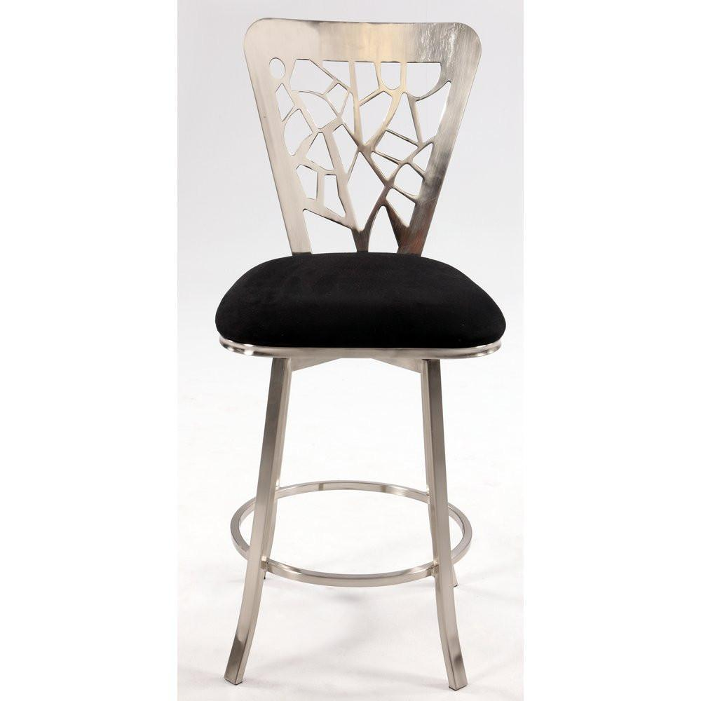 Remarkable Chintaly Laser Cut Back Memory Swivel Bar Stool 0413 Bs Evergreenethics Interior Chair Design Evergreenethicsorg