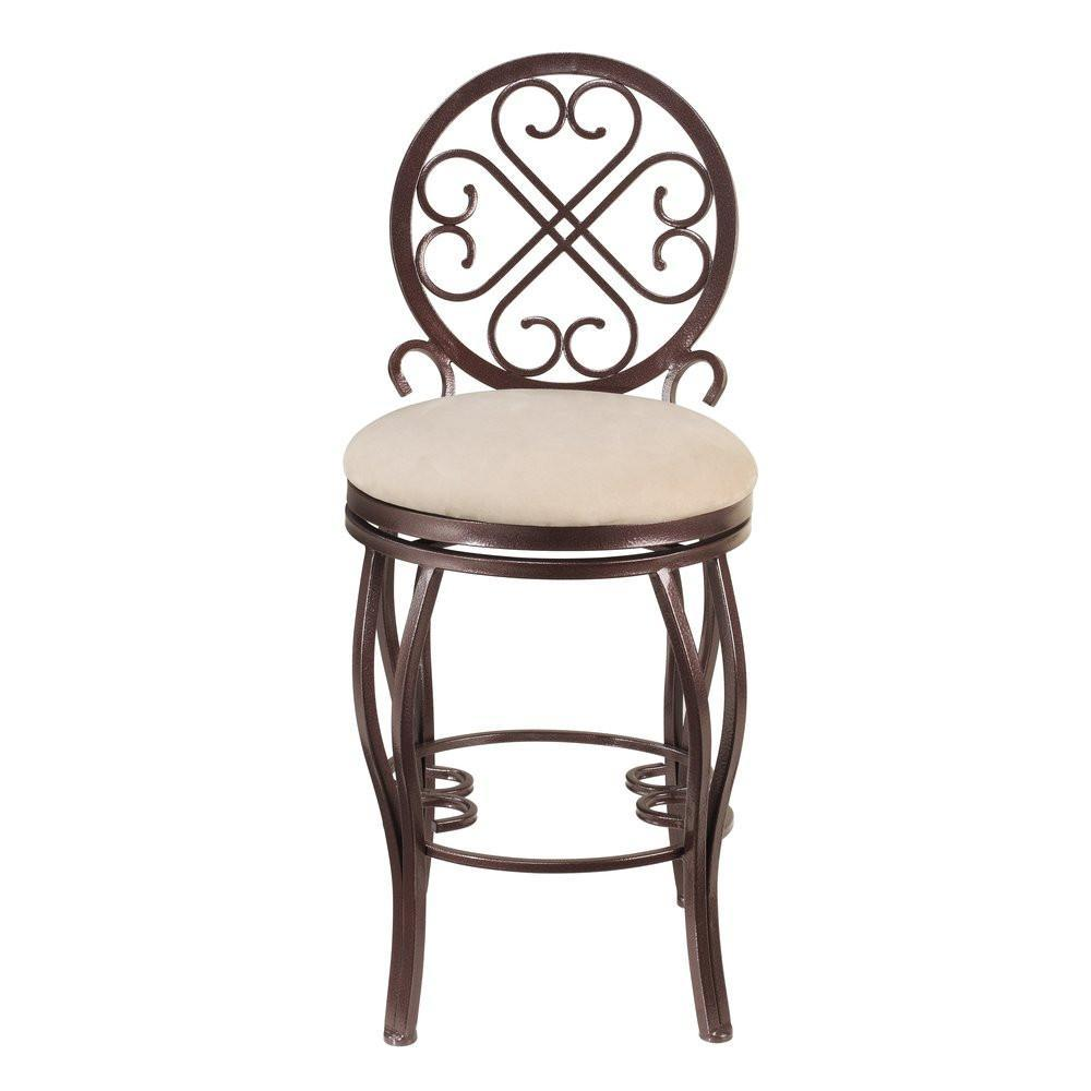 Chintaly Lily Traditional Style Memory Swivel Counter Stool Home