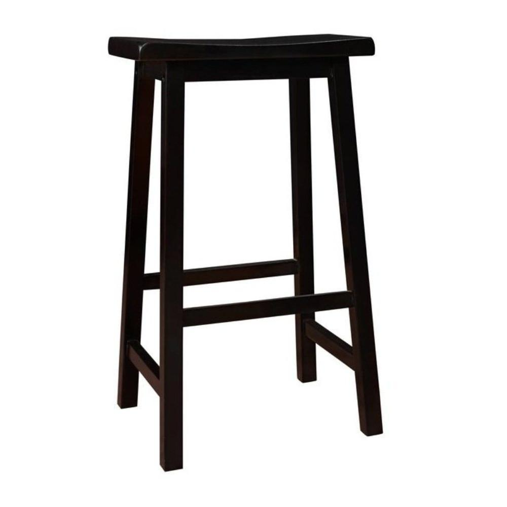 Prime Monarch Black 29H Saddle Seat Barstools Set Of 2 Gamerscity Chair Design For Home Gamerscityorg