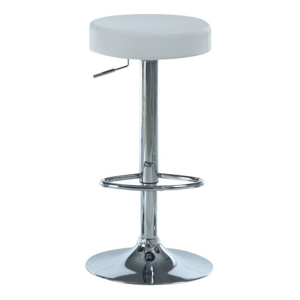 Swell Monarch White Chrome Metal Hydraulic Lift Barstool Set Of 2 I 2368 Camellatalisay Diy Chair Ideas Camellatalisaycom