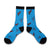 Blue Holiday Socks