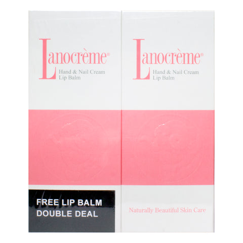 Lanolin Hand & Nail Cream & Lip Balm Set - Double Deal