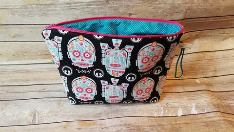 UnRaveled Bag Large Project Bag - R2D2 C3PO Sugar Skulls - Unraveled Yarn Shop