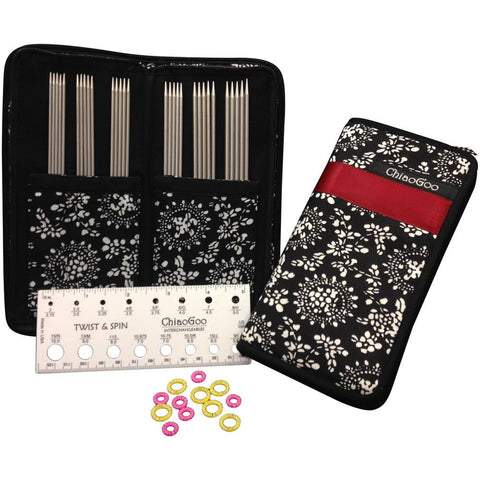 "ChiaoGoo Double Point Stainless Steel Knitting Needle 6"" Set - Unraveled Yarn Shop"