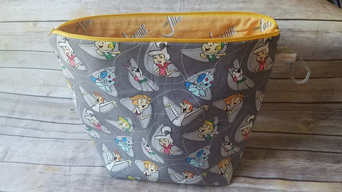 UnRaveled Bag Large Project Bag - The Jetsons - Unraveled Yarn Shop