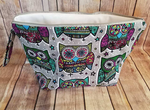 UnRaveled Bag Large Project Bag - Owl Print - Unraveled Yarn Shop
