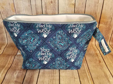UnRaveled Bag Large Project Bag - You Had Me at Woof **CHARITY BAG** - Unraveled Yarn Shop