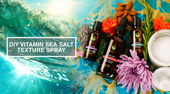 DIY Vitamin Sea Salt Texture Spray with Lavender & Rosemary