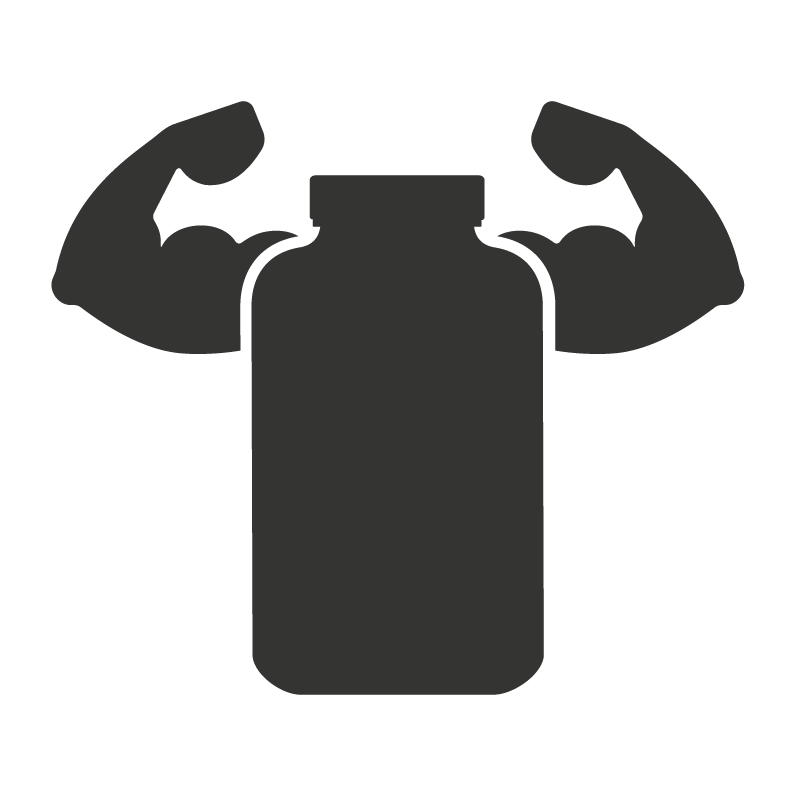 Healthy You - Bottle with strong arms.