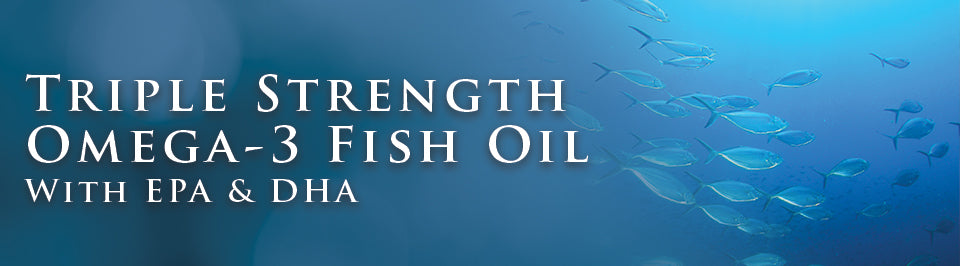 DrVita Triple Strength Omega-3 Fish Oil with EPA & DHA - 240 Softgels