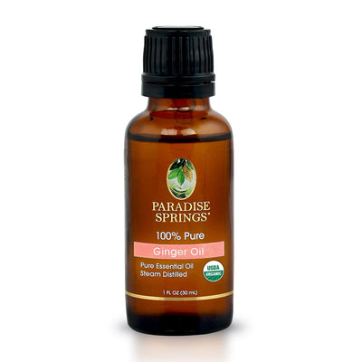 Paradise Springs Organic Ginger Oil Bottle