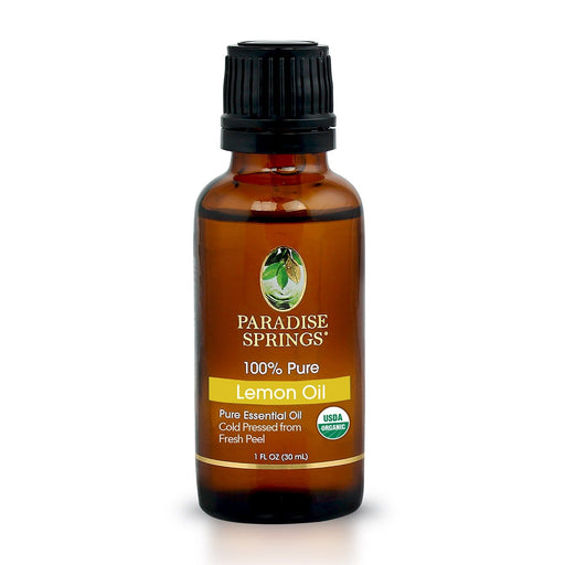 Paradise Springs Organic Lemon Oil Bottle