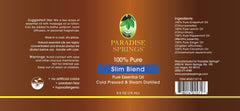Paradise Springs Slim Blend Label