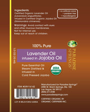 Paradise Springs Organic Lavender Roll-On Label