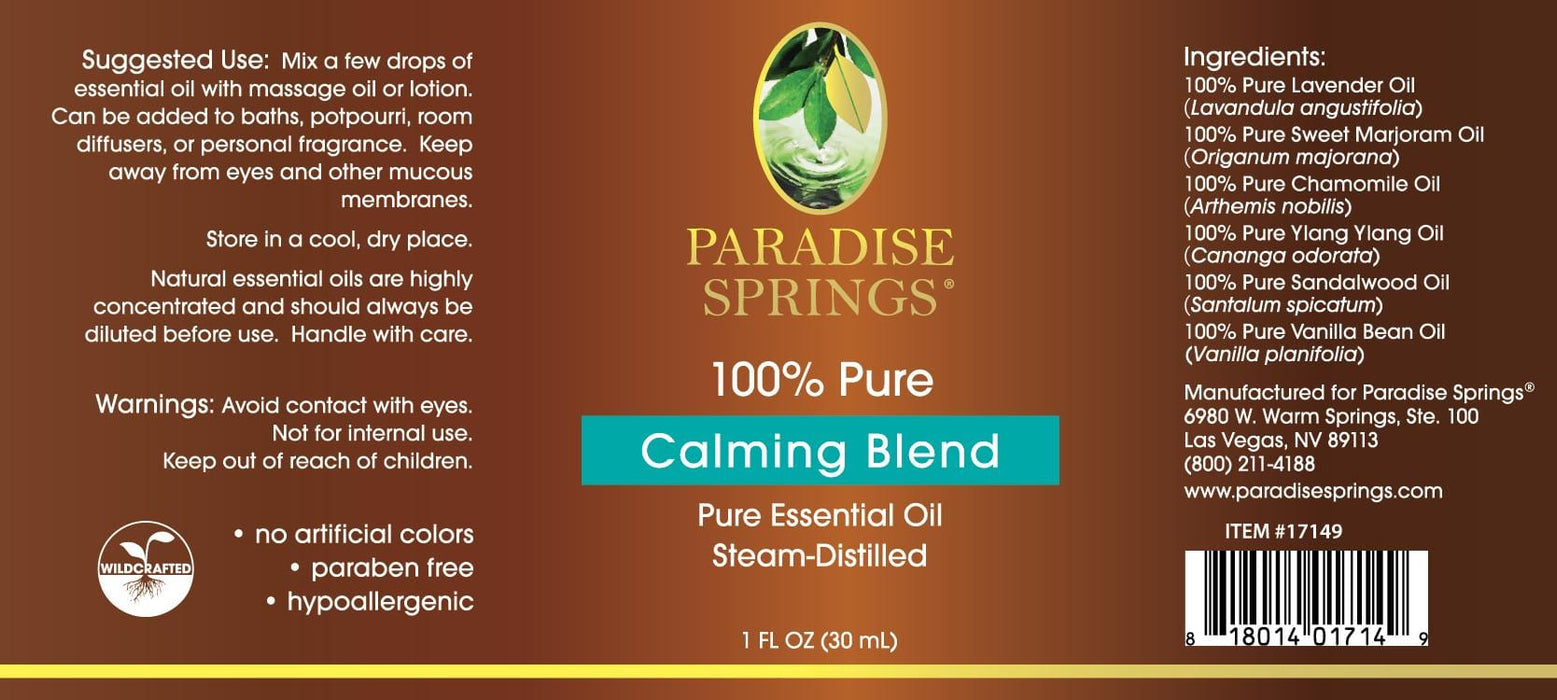 Paradise Springs Calming Blend - 1 oz (30 mL)