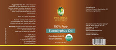 Paradise Springs Organic Eucalyptus Oil Label