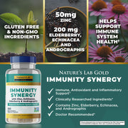 Nature's Lab Gold Immunity Synergy - 100 Capsules Benefits