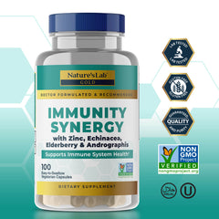Nature's Lab Gold Immunity Synergy - 100 Capsules Primary