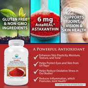Nature's Lab AstaREAL Astaxanthin 6mg 60 Softgels Info