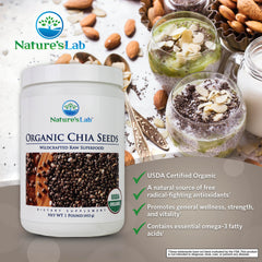 Nature's Lab Organic Chia Seeds 1 lb (453 g) Info