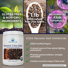 Nature's Lab Organic Chia Seeds 1 lb (453 g) Benefits