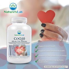 Nature's Lab CoQ10 100mg 120 capsules Info
